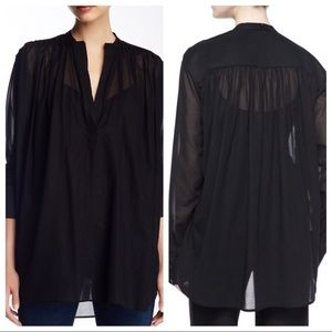 HELMUT LANG POET BLOUSE IN SIZE M .